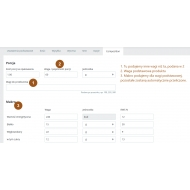 Tabela składów produktu dla prestashop 1.6 oraz 1.7