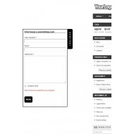 Wysuwany formularz kontaktowy